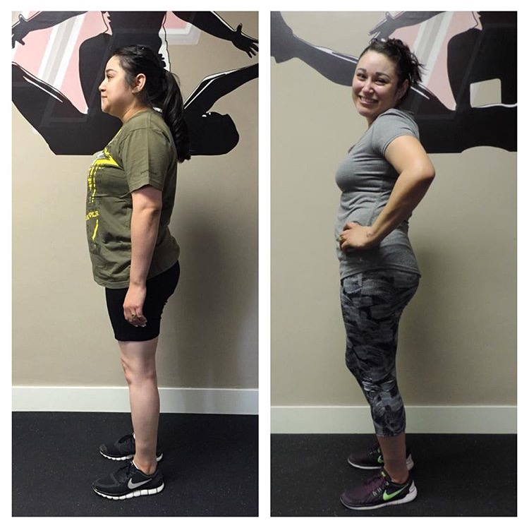 transform fitness before after photo Erica