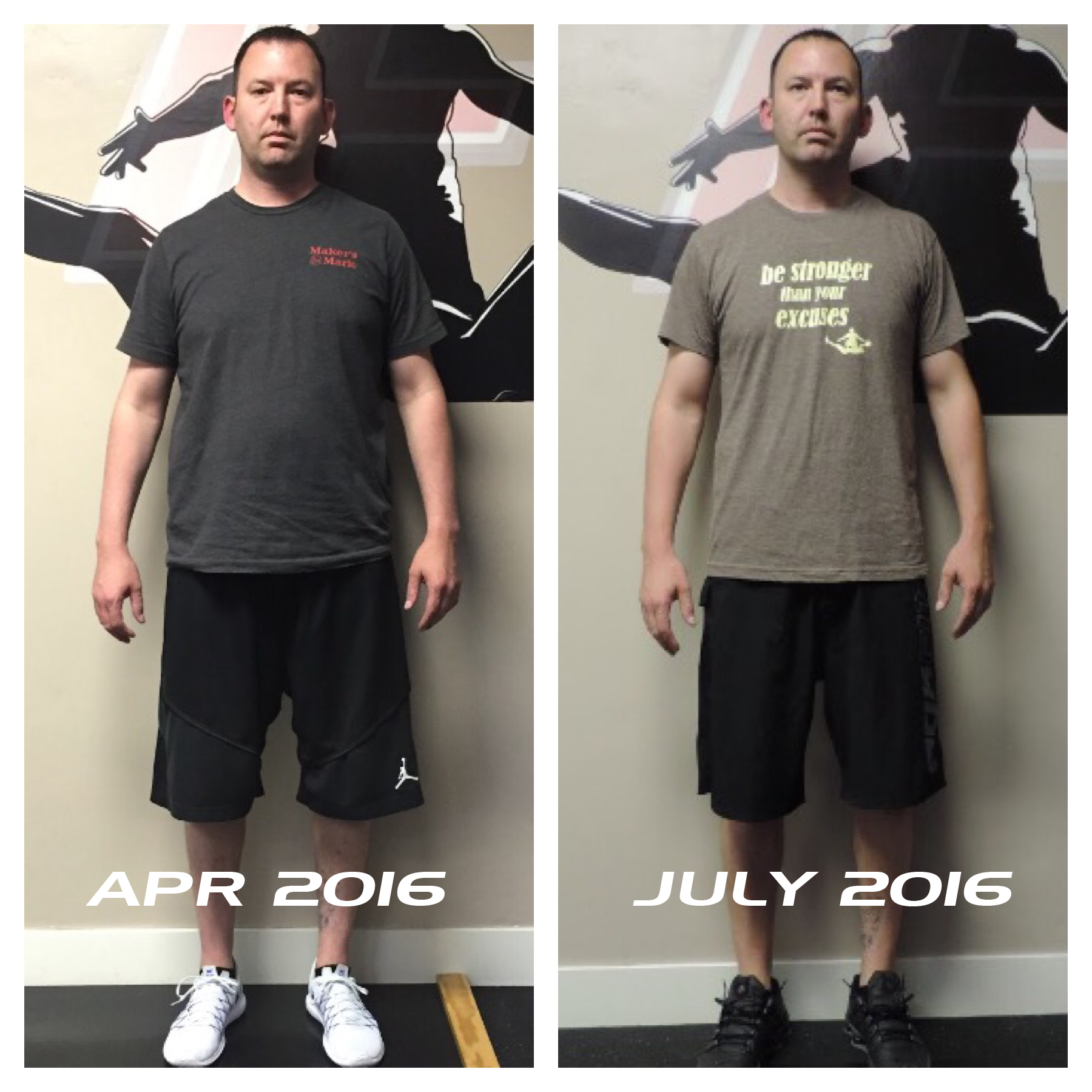 transform fitness before after photo Kyle