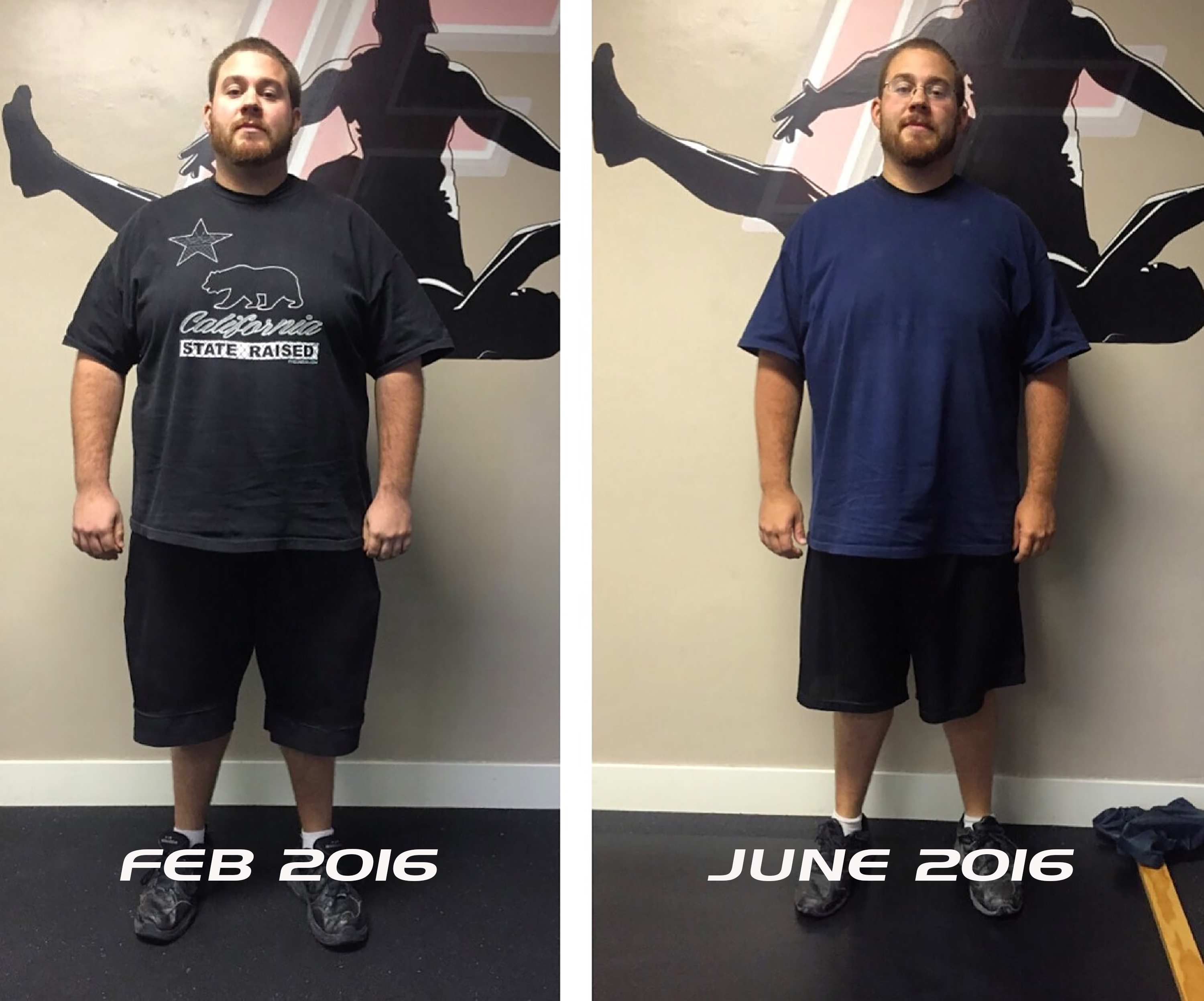 transform fitness before after photo of Dan