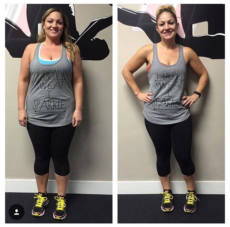 transform fitness before after photo Rose